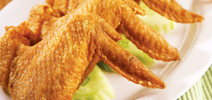 Fried chicken wings for Fish and wings